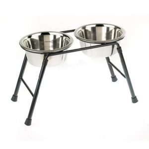 galvanised dog bowl holders