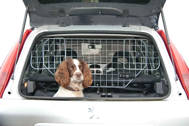 Premium Adjustable Wire Mesh Headrest Dog Guard Pet Safety Travel Barrier